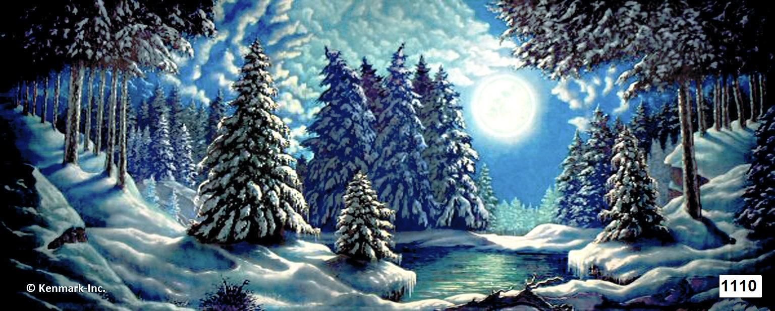 2073 Snow Forest w/Moon