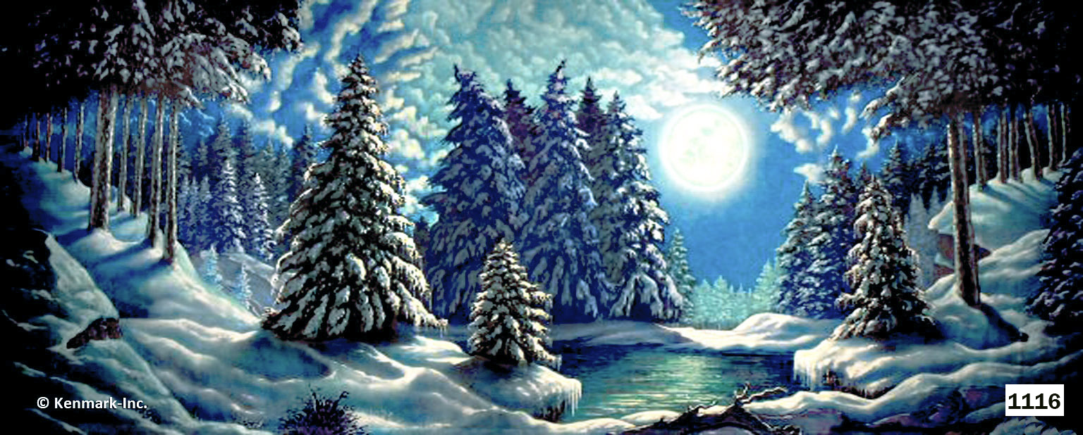 1953 Snow Forest with Moon