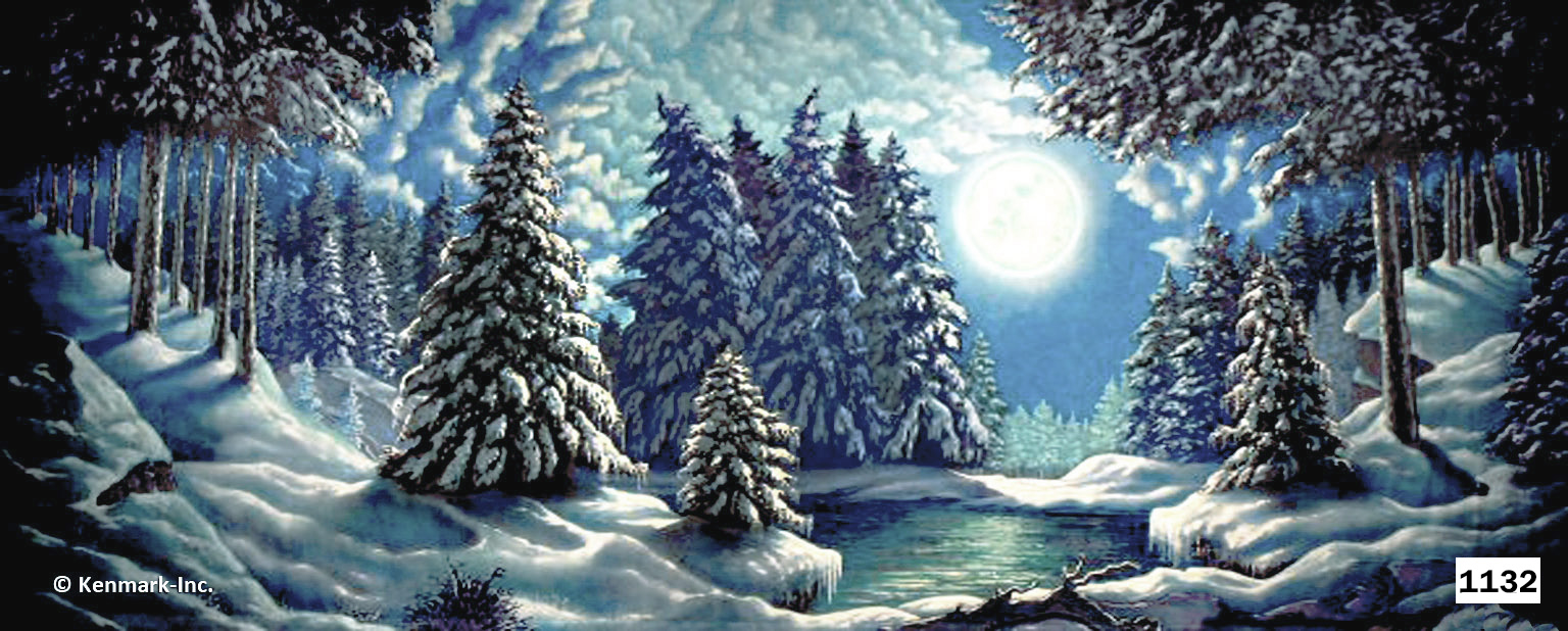2055 Snow Forest with Moon