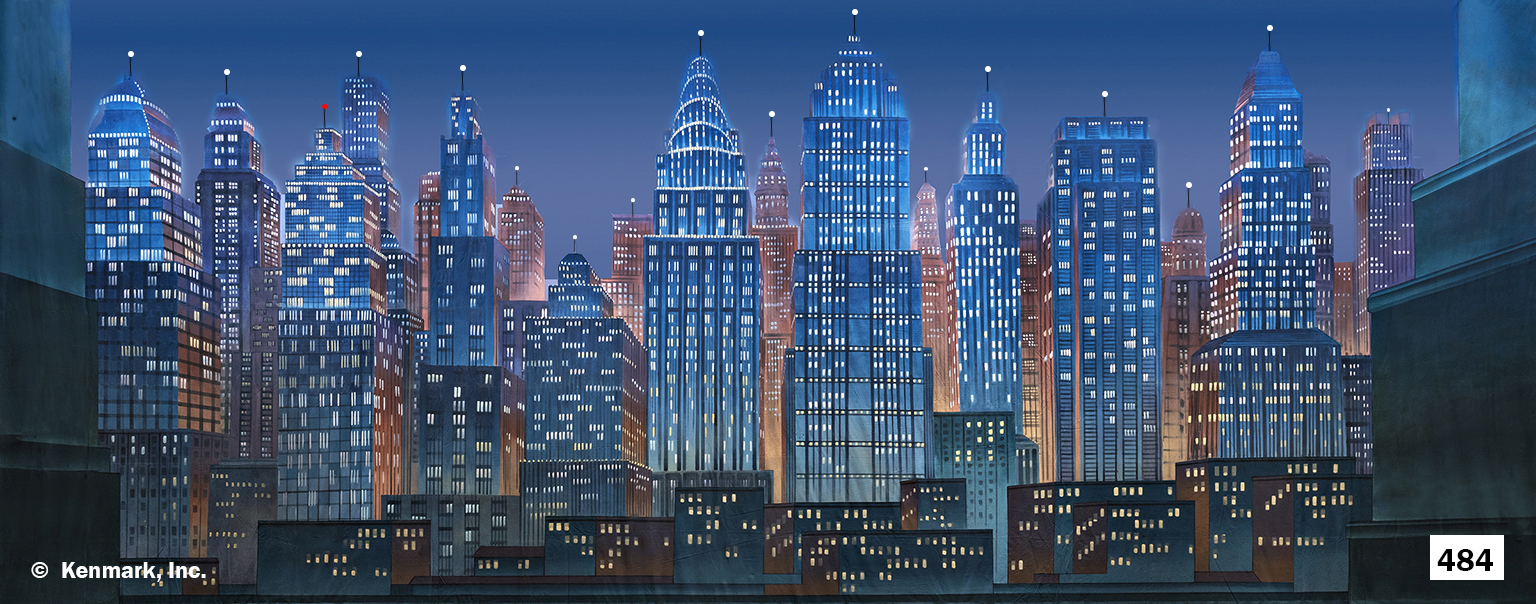 D484 City at Night  19 4 x 48 4