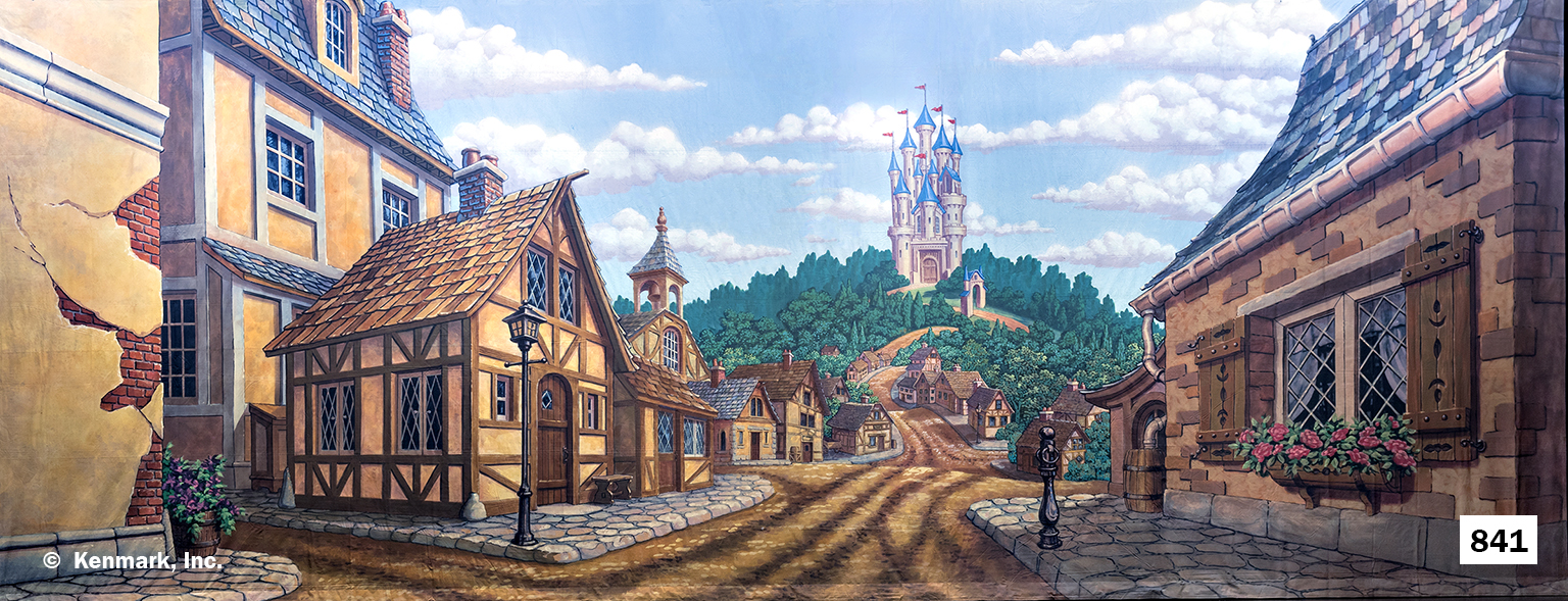 1565 Village with Castle