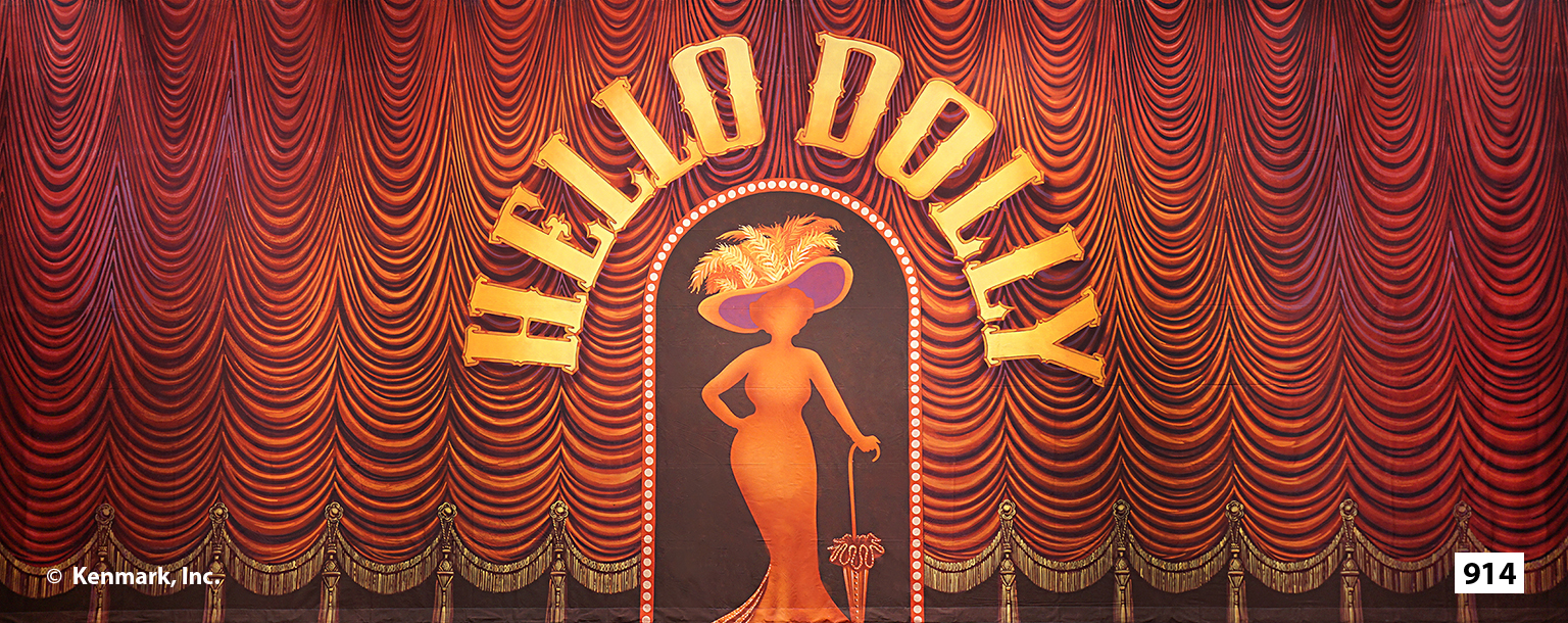 ED914 Hello Dolly Act Curtain 20x50