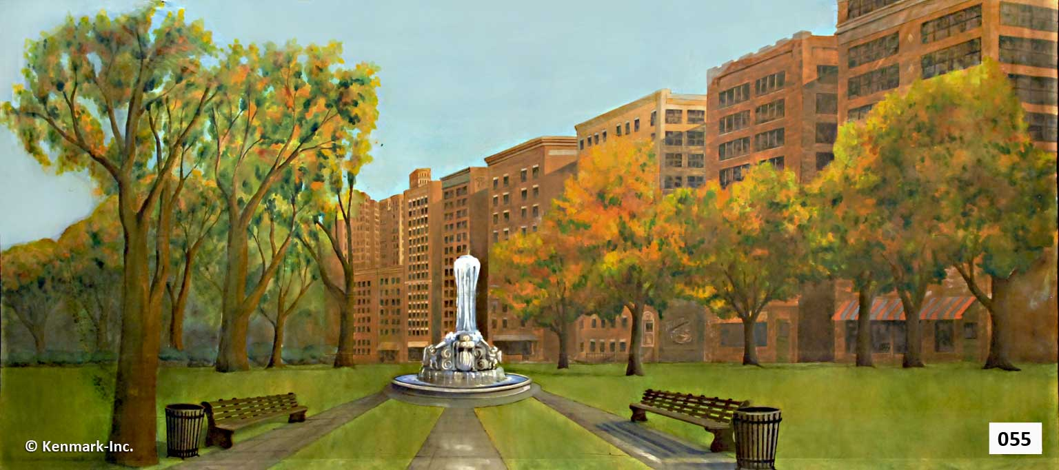92 City Park with Buildings