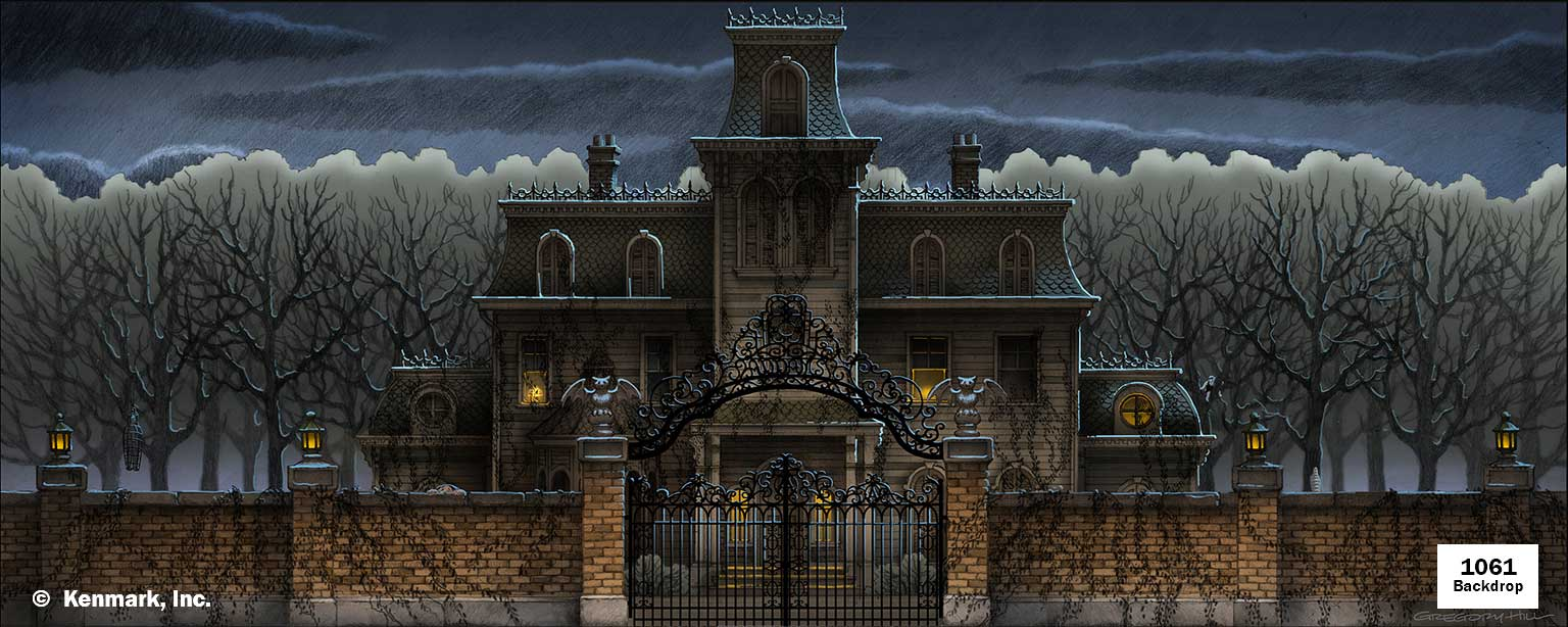Addams Family Home Exterior