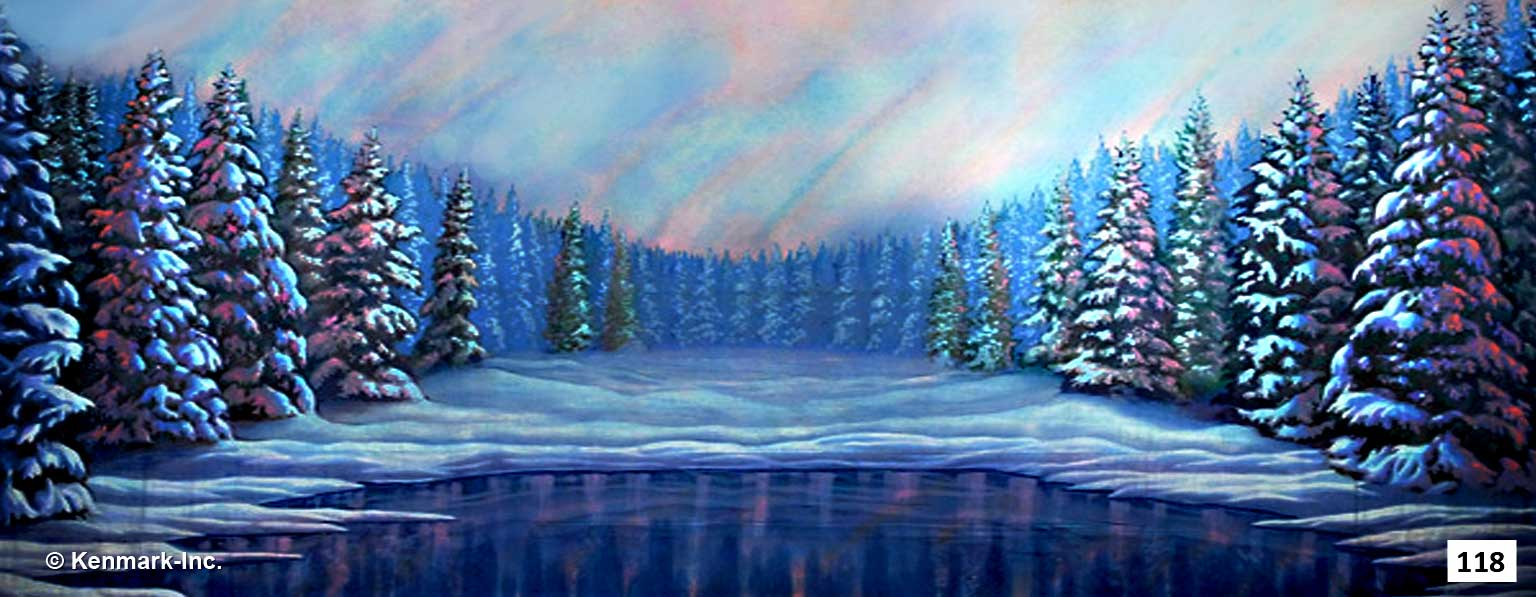 156 Snow Forest with Pond