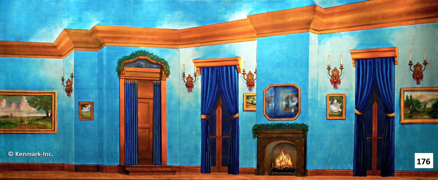 211 Blue Victorian Living Room