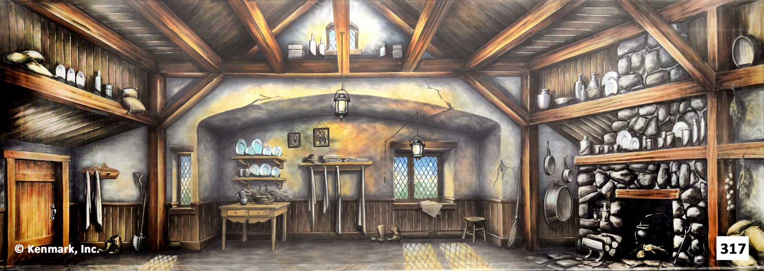 D317 Cottage Interior