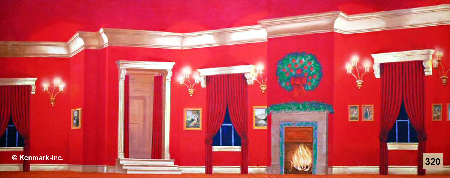 343 Red Victorian Living Room