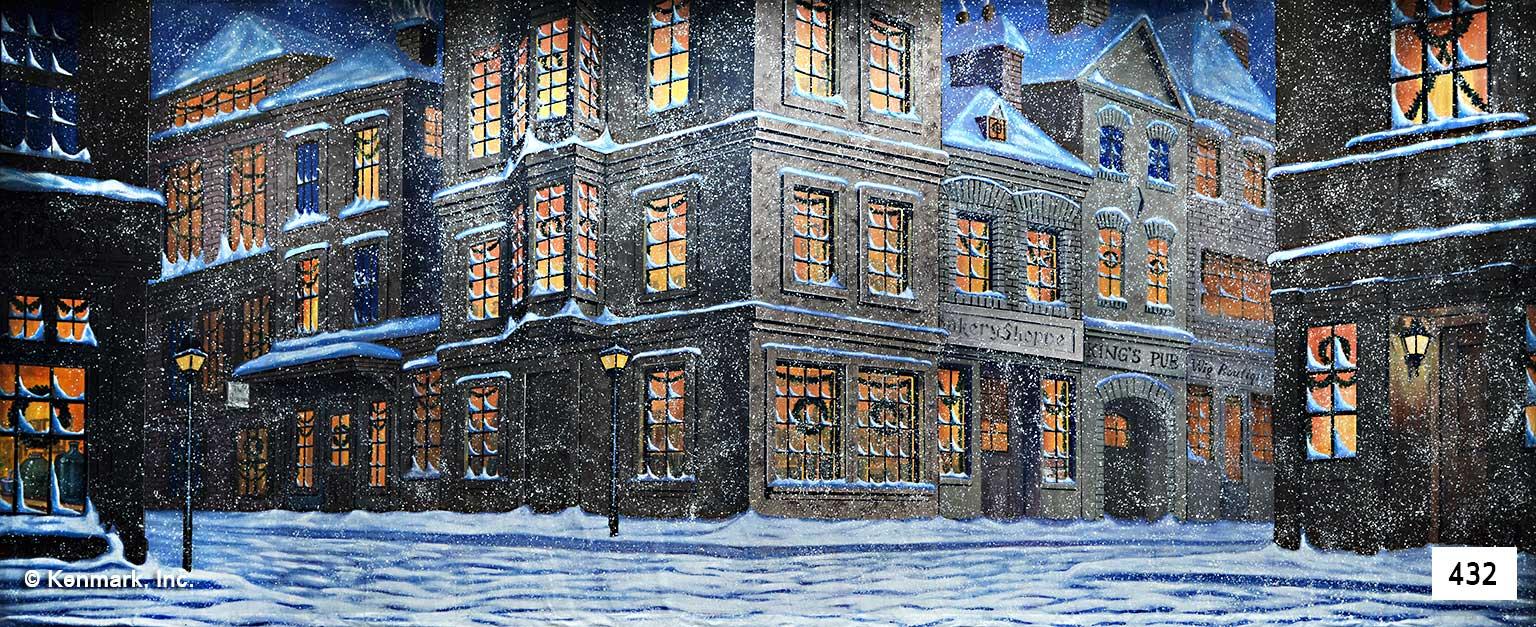 442 english city winter scene