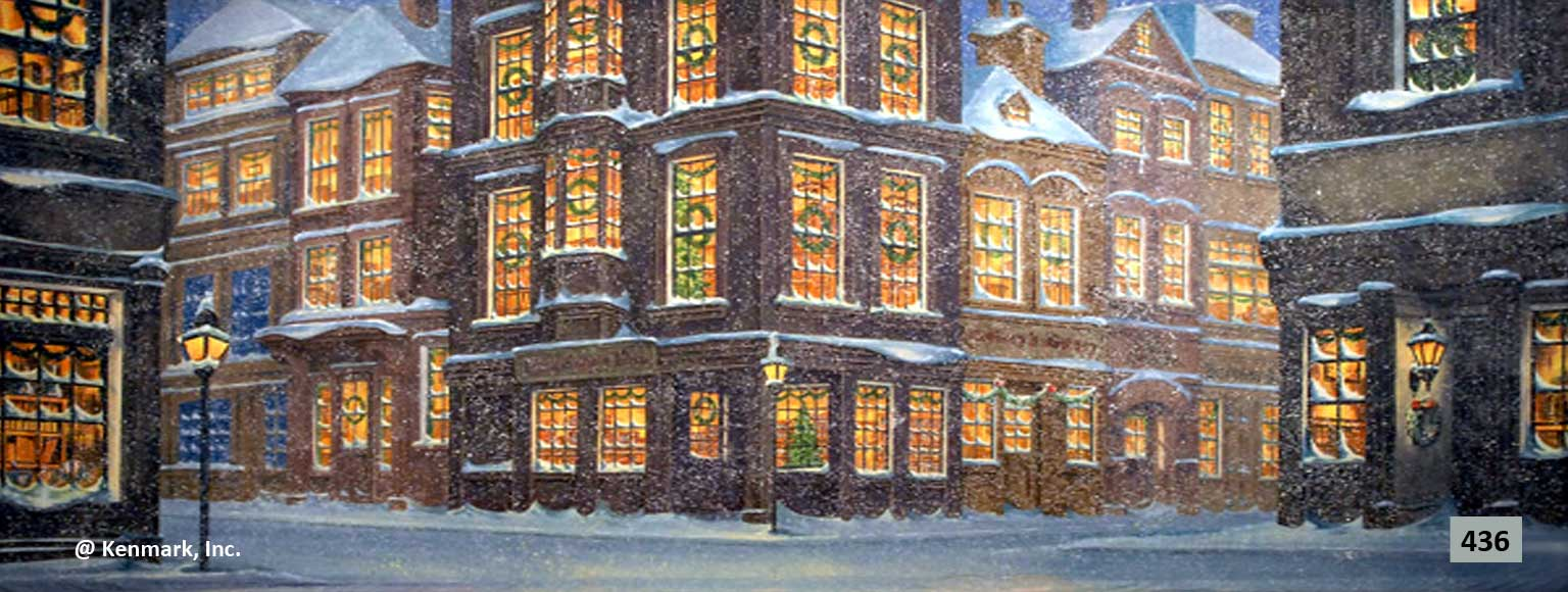 446 English City Winter Scene