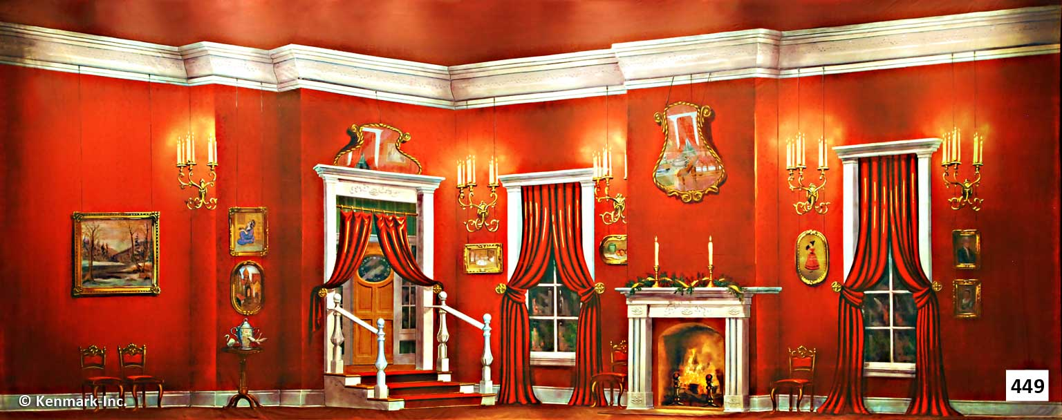 457 Red Victorian Living Room