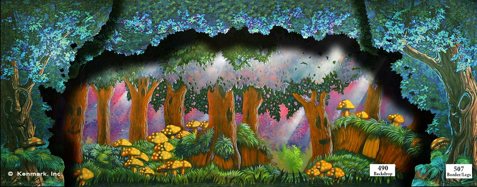 ED490 Enchanted Forest with 507 Border