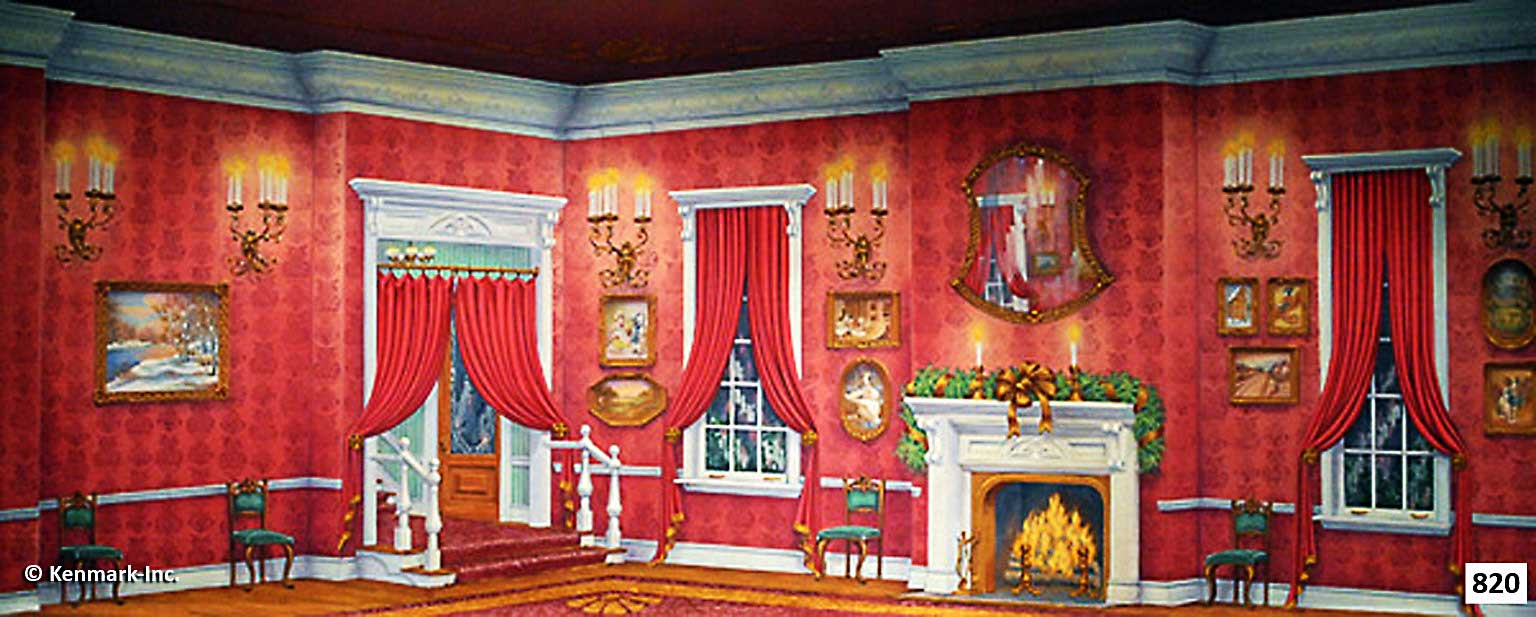 1459 Red Victorian Living Room