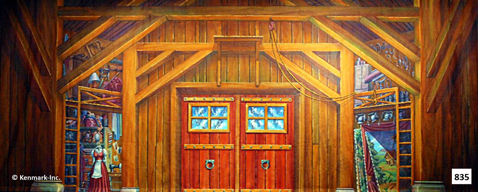 1468 Barn Interior with Cut Out